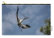 Wood Stork Returns To Nest Carry-all Pouch