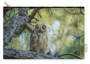 Immature Great Horned Owl Carry-all Pouch