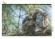 Immature Great Horned Owls Carry-all Pouch