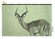 Impala Carry-all Pouch by James W Johnson