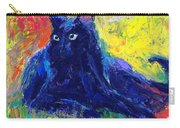 Impasto Black Cat Painting Carry-all Pouch