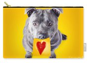 Imploring Staffie With A Sticky Note On His Mouth Carry-all Pouch