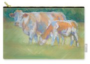 Impressionist Cow Calf Painting Carry-all Pouch