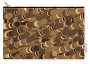 Impressionist Golden Rising Sand Castle Show Pattern Art 36x12 Horizontal Landscape Energy Graphics  Carry-all Pouch