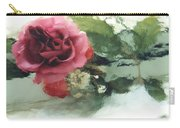 Impressionistic Watercolor Roses, Romantic Watercolor Pink Rose  Carry-all Pouch