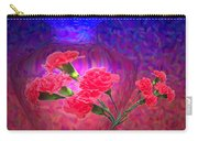 Impressions Of Pink Carnations Carry-all Pouch by Joyce Dickens