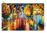 Improvisation Of Lights - Palette Knife Oil Painting On Canvas By Leonid Afremov Carry-all Pouch