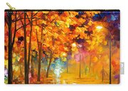 Improvisation Of Trees - Palette Knife Oil Painting On Canvas By Leonid Afremov Carry-all Pouch