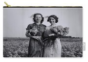In A Field Of Flowers Vintage Photo Carry-all Pouch