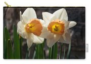 In Conversation - A Couple Of Daffodils Huddled Together Carry-all Pouch