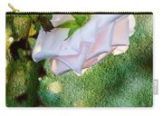 In Early Morning Light - White Rose Carry-all Pouch