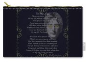 In My Life Golden Scroll Carry-all Pouch