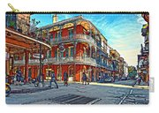 In The French Quarter Painted Carry-all Pouch
