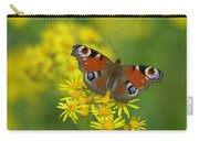 Inachis Io Butterfly On The Yellow Flowers Carry-all Pouch