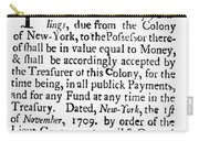 Indented Banknote, 1709 Carry-all Pouch