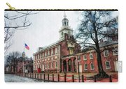 Independence Hall From Chestnut Street Carry-all Pouch