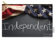 Independent Political Party Sign On Chalkboard Carry-all Pouch