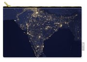 India At Night Satellite Image Carry-all Pouch