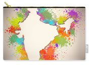 India Watercolor Map Painting Carry-all Pouch