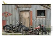 Indian Chout And Chief Bobber At The Old Okains Bay Garage Carry-all Pouch