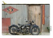 Indian Chout At The Old Okains Bay Garage 2 Carry-all Pouch