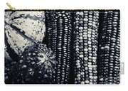 Indian Corn And Squash In Black And White Carry-all Pouch