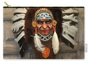 Indian Headdress In  Brown Carry-all Pouch