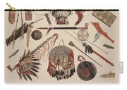 Indian Implements And Arms Carry-all Pouch