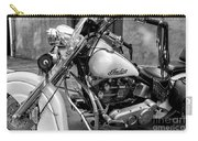 Indian Motorcycle In French Quarter-bw Carry-all Pouch