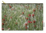 Indian Paintbrush And Foxtail Barley Carry-all Pouch