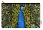 Indian Peafowl Male In Full Display Carry-all Pouch