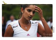 Indian Tennis Player Sania Mirza Carry-all Pouch by Nishanth Gopinathan