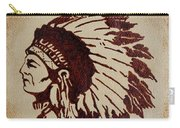Indian Wise Chief Coffee Painting Carry-all Pouch