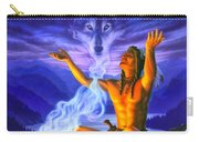 Indian Wolf Spirit Carry-all Pouch
