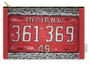 Indiana 1949 License Platee Carry-all Pouch