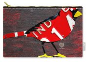 Indiana Cardinal Bird Recycled Vintage License Plate Art Carry-all Pouch