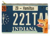 Indiana License Plate Carry-all Pouch
