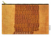 Indiana State Word Art On Canvas Carry-all Pouch by Design Turnpike