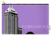 Indianapolis Indiana Skyline - Violet Carry-all Pouch