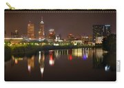 Indianapolis Skyline At Night Indy Downtown Color Panorama Carry-all Pouch