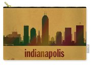 Indianapolis Skyline Watercolor On Parchment Carry-all Pouch