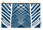 Indigo And White Leaves- Abstract Art Carry-all Pouch
