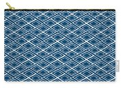 Indigo And White Small Diamonds- Pattern Carry-all Pouch