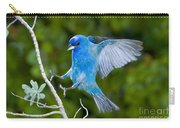 Indigo Bunting Alighting Carry-all Pouch