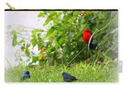 Indigo Bunting And Scarlet Tanager Carry-all Pouch