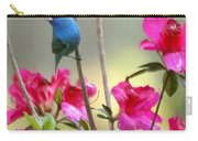Indigo Bunting In The Azaleas Carry-all Pouch