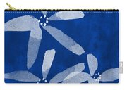 Indigo Flowers Carry-all Pouch by Linda Woods