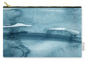 Indigo Water- Abstract Painting Carry-all Pouch by Linda Woods