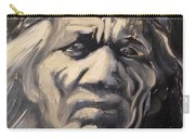 Indio Indian Black And White Oil Painting Carry-all Pouch