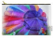 Inflating The Rainbow Hot Air Balloon Photo Art Carry-all Pouch